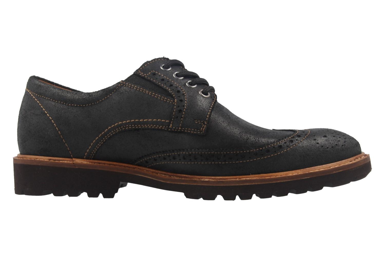 Manz Business Schuhe in Übergrößen Schwarz 146063-03-001 große Herrenschuhe – Bild 4
