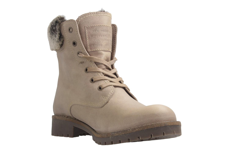 MUSTANG - Damen Boots - Hellbraun Schuhe in Übergrößen – Bild 6