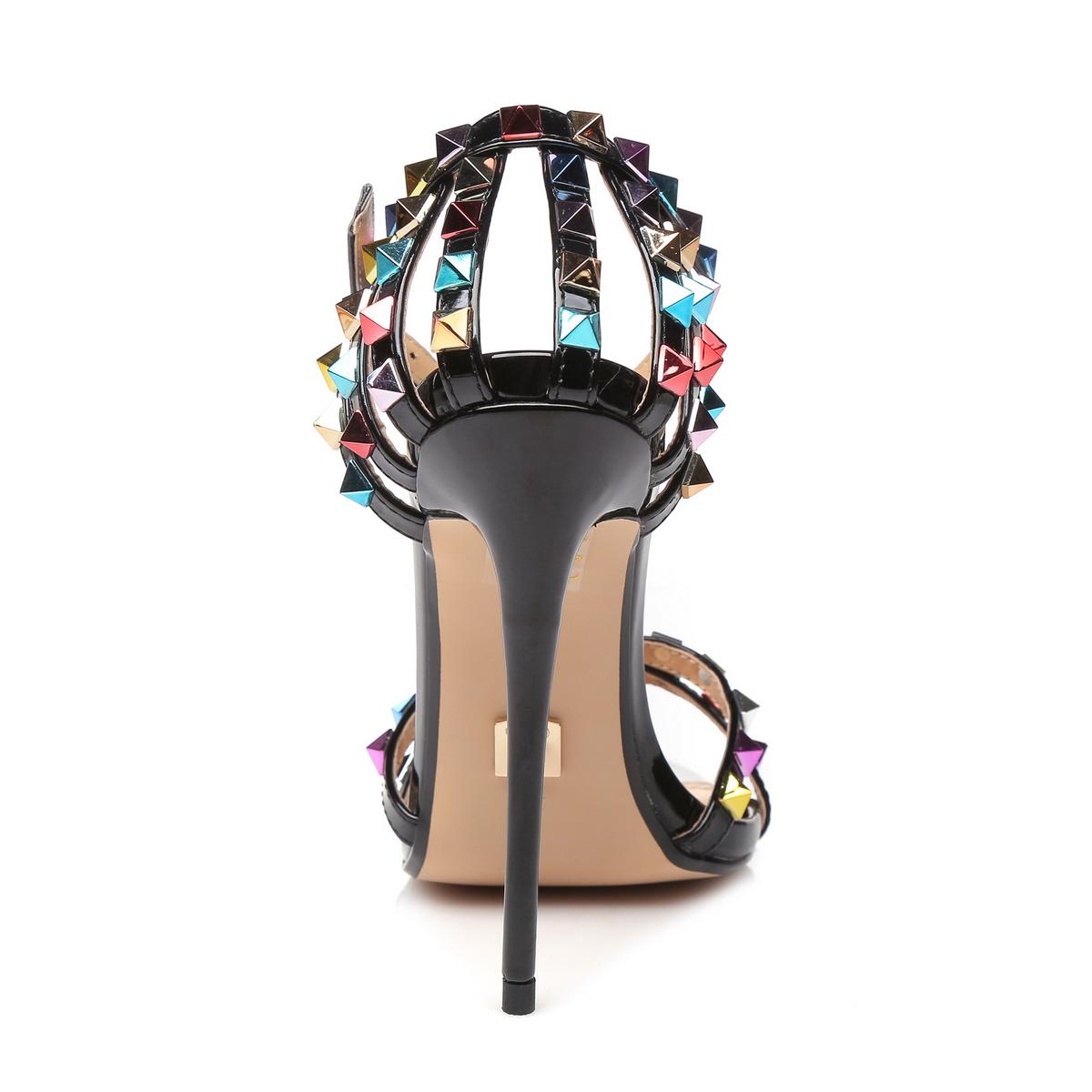 Giaro Sandaletten in Übergrößen Schwarz Santa Clara Black/Multi große Damenschuhe – Bild 3