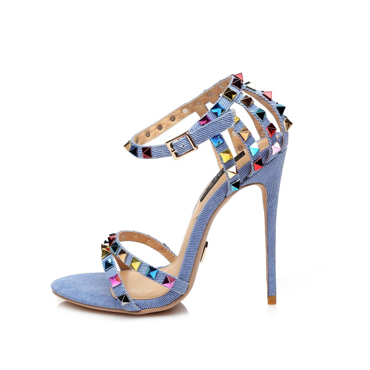 Giaro Sandaletten in Übergrößen Blau Santa Clara Denim/Multi große Damenschuhe – Bild 2