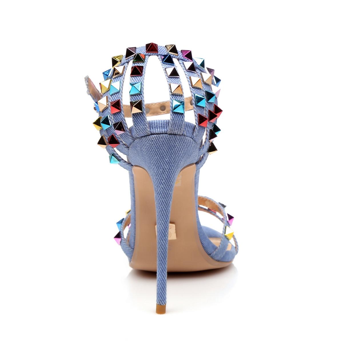 Giaro Sandaletten in Übergrößen Blau Santa Clara Denim/Multi große Damenschuhe – Bild 3