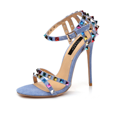Giaro Sandaletten in Übergrößen Blau Santa Clara Denim/Multi große Damenschuhe