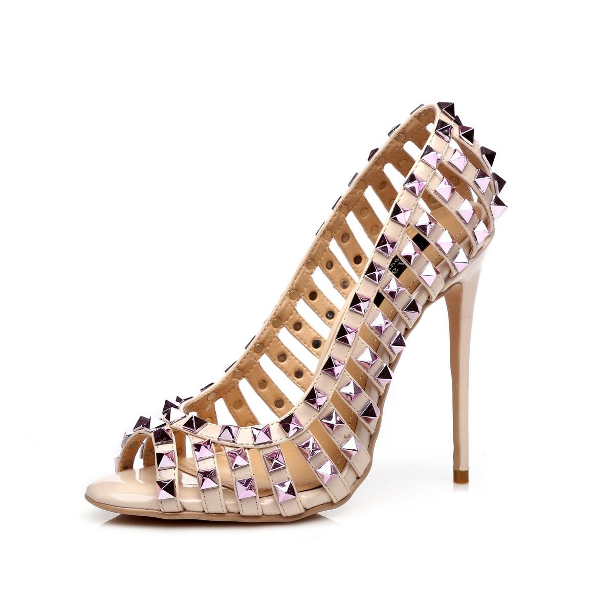 GIARO - Damen High Heel Pumps - Hautfarbend Schuhe in Übergrößen – Bild 1