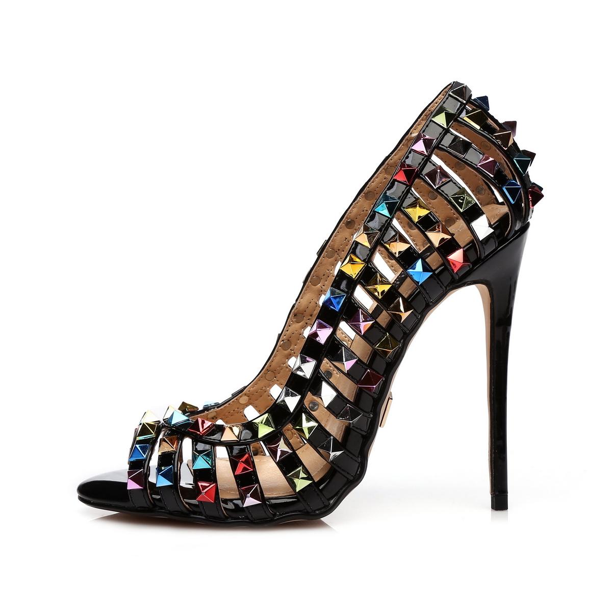 GIARO - Damen High Heel Pumps - Schwarz Schuhe in Übergrößen – Bild 2