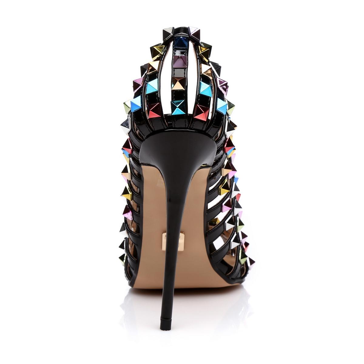 GIARO - Damen High Heel Pumps - Schwarz Schuhe in Übergrößen – Bild 3