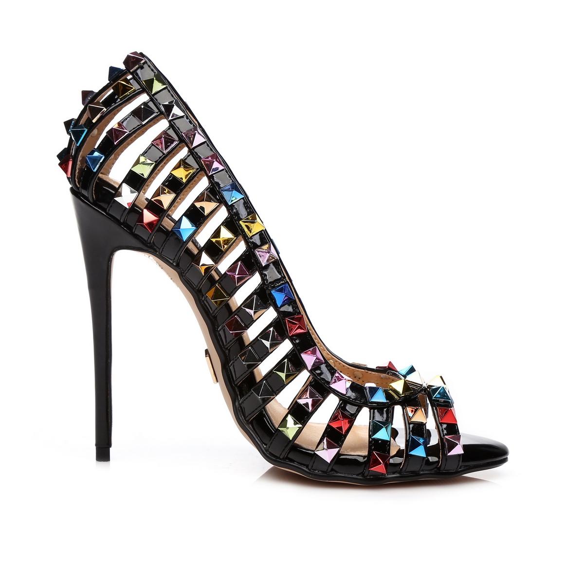 GIARO - Damen High Heel Pumps - Schwarz Schuhe in Übergrößen – Bild 4