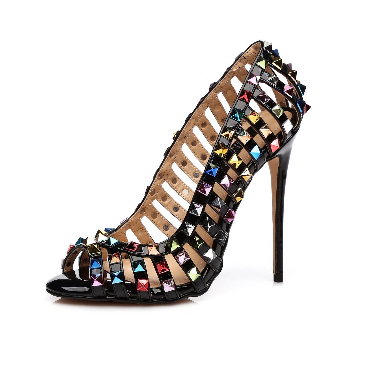 GIARO - Damen High Heel Pumps - Schwarz Schuhe in Übergrößen – Bild 1