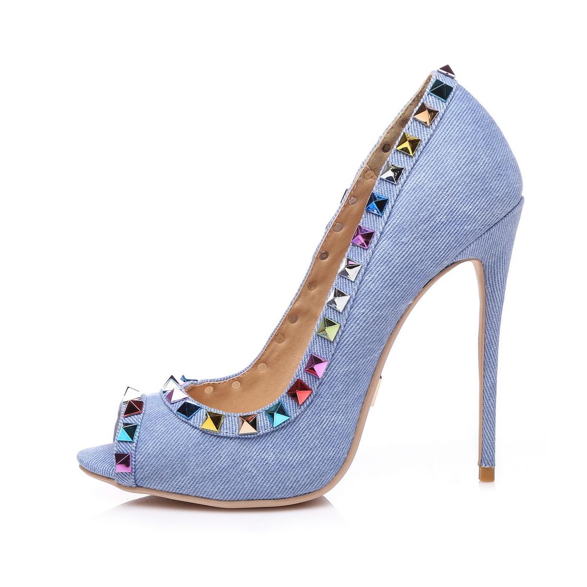 giaro damen high heels blau schuhe in bergr en ebay. Black Bedroom Furniture Sets. Home Design Ideas