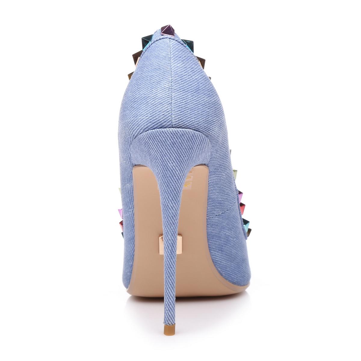 Giaro Sandaletten in Übergrößen Blau Milo Denim/Multi große Damenschuhe – Bild 3