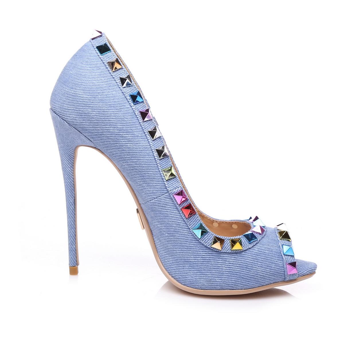 Giaro Sandaletten in Übergrößen Blau Milo Denim/Multi große Damenschuhe – Bild 4