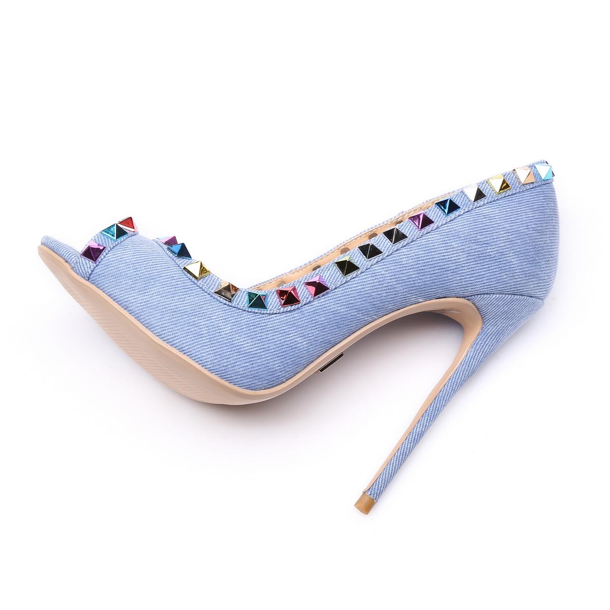 GIARO - Damen High Heels - Blau Schuhe in Übergrößen – Bild 5
