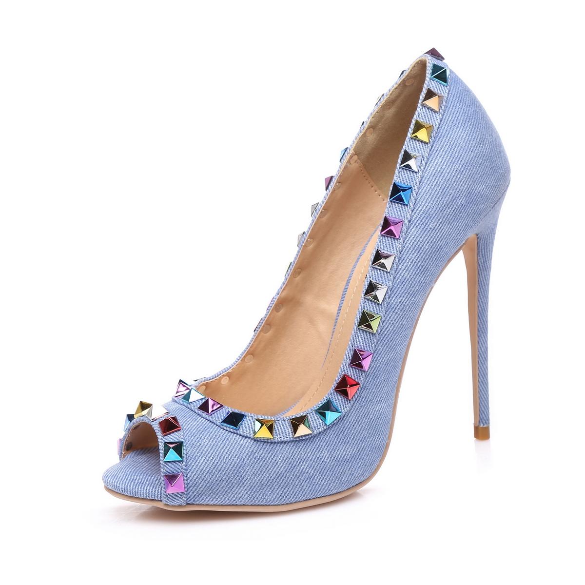 Giaro Sandaletten in Übergrößen Blau Milo Denim/Multi große Damenschuhe – Bild 1