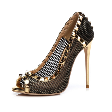 GIARO - Damen High Heels - Gold Schuhe in Übergrößen – Bild 1