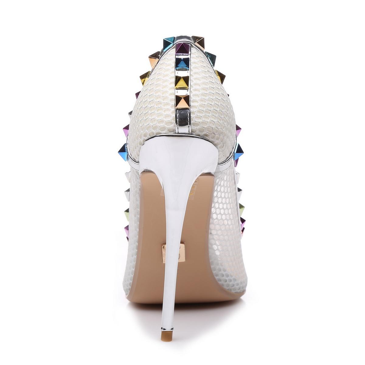 Giaro Sandaletten in Übergrößen Silber Milo Silver Mesh/Multi große Damenschuhe – Bild 3