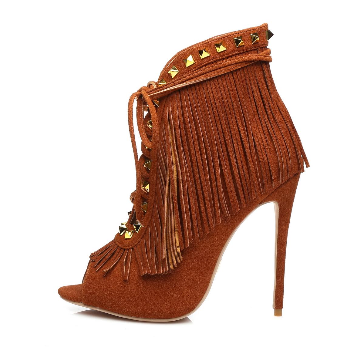 GIARO - Damen High Heels - Braun Schuhe in Übergrößen – Bild 2