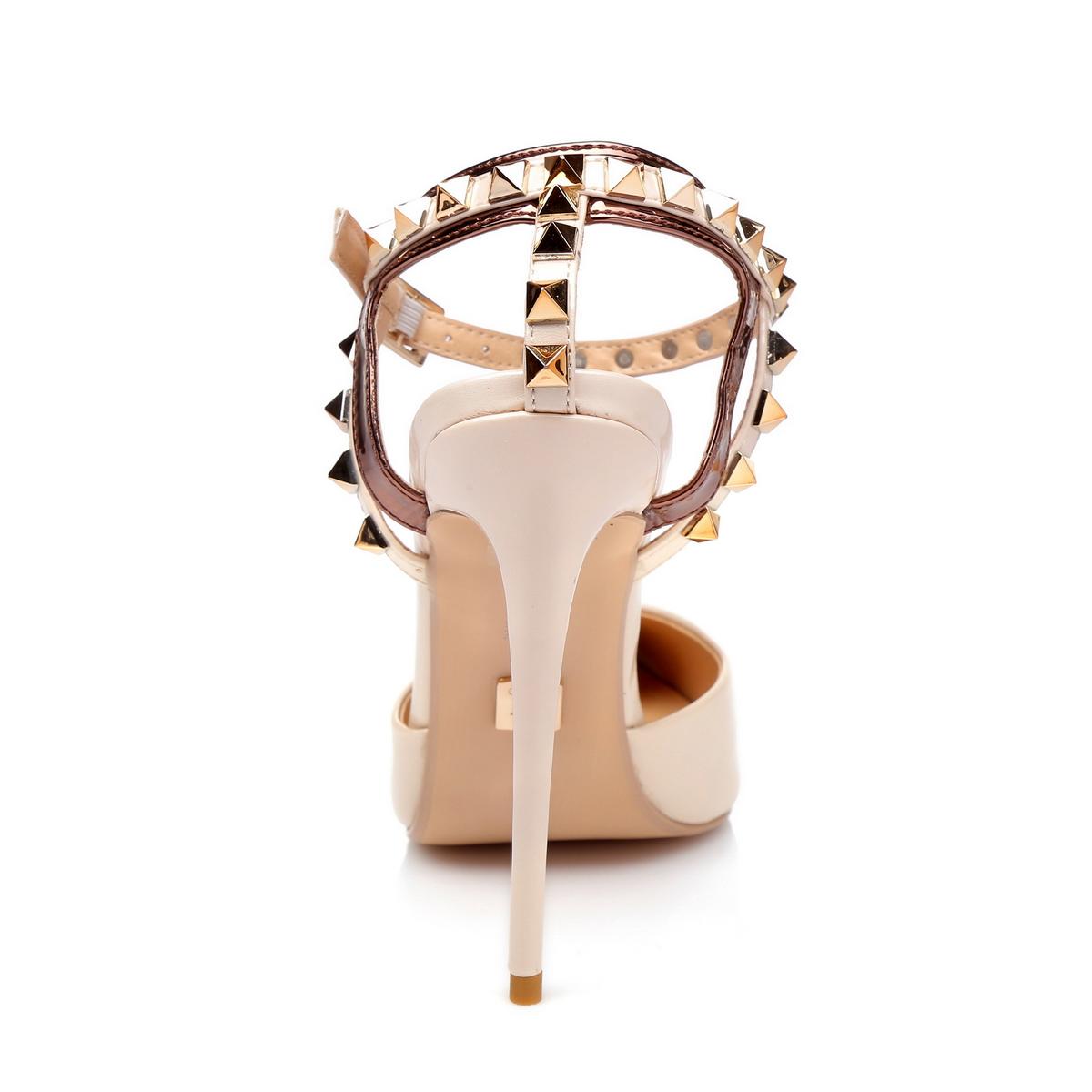 GIARO - Damen High Heel - Beige Schuhe in Übergrößen – Bild 3