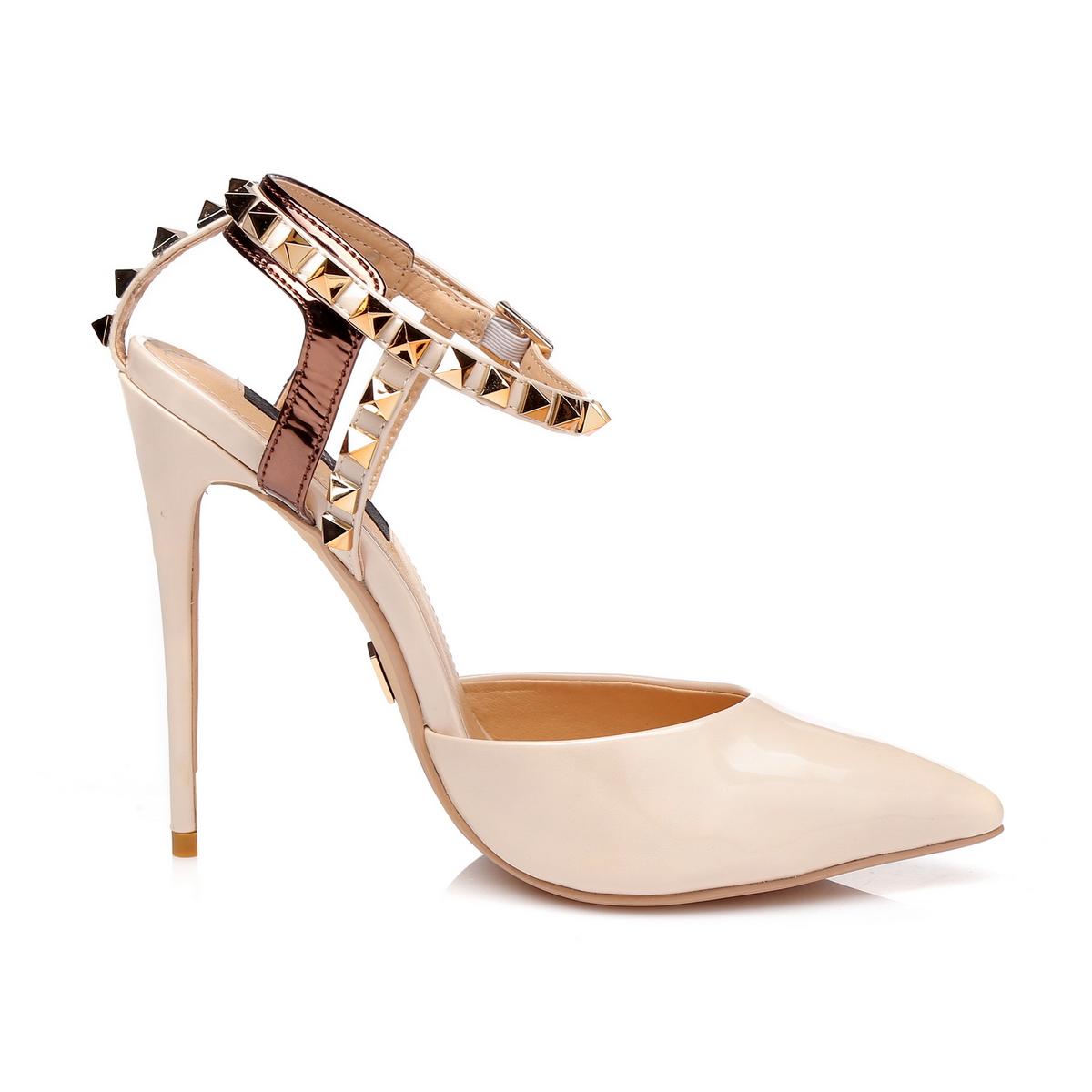 GIARO - Damen High Heel - Beige Schuhe in Übergrößen – Bild 4