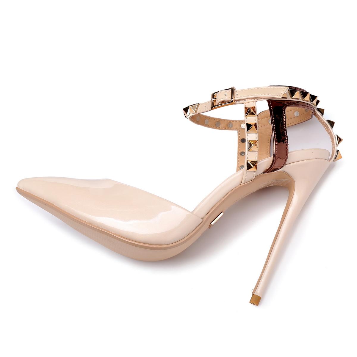 GIARO - Damen High Heel - Beige Schuhe in Übergrößen – Bild 5