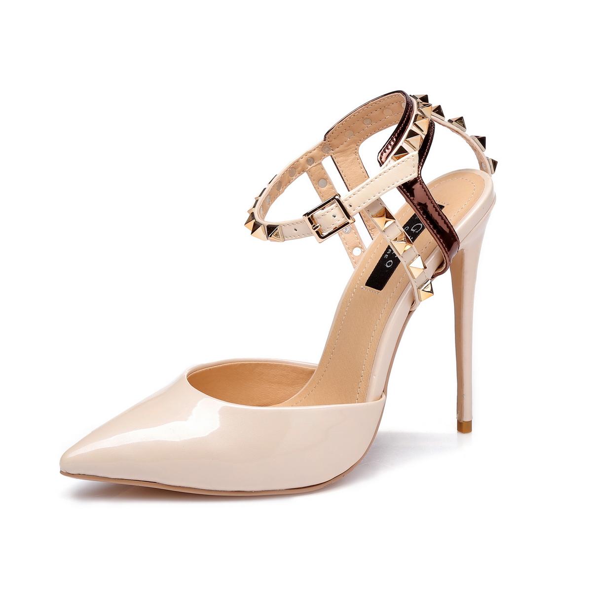 GIARO - Damen High Heel - Beige Schuhe in Übergrößen – Bild 1