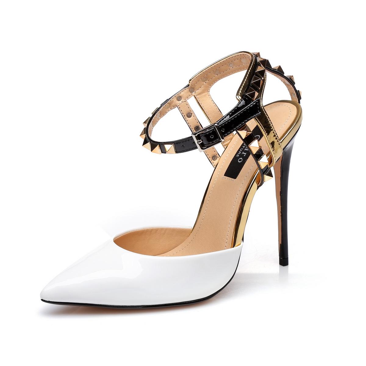 GIARO - Damen High Heel - Weiß Schuhe in Übergrößen – Bild 1