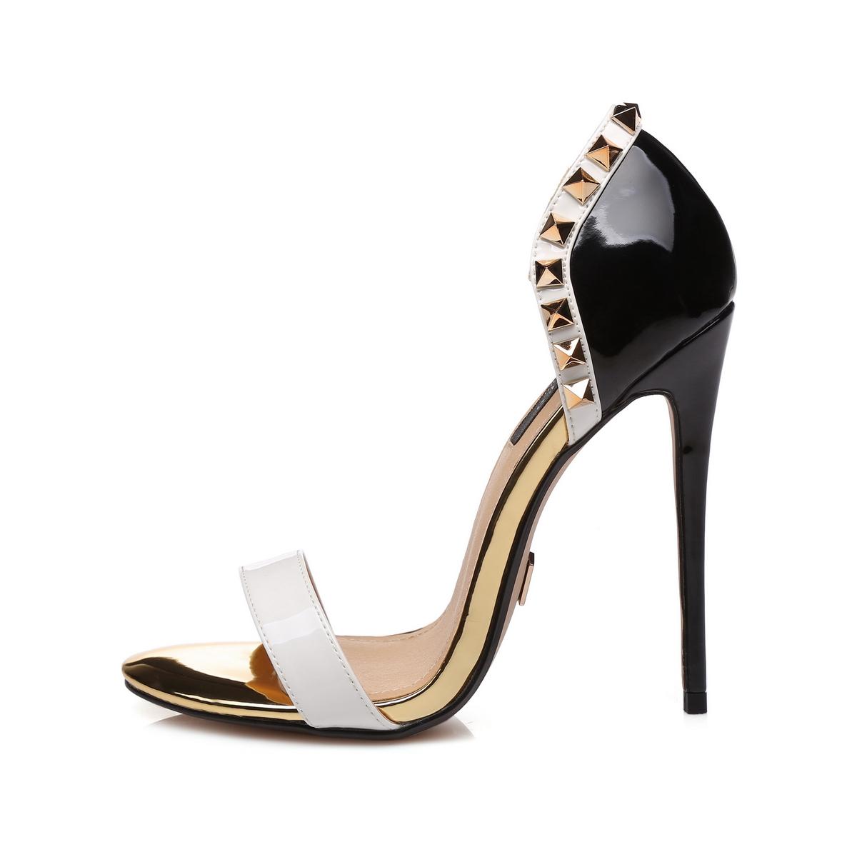 GIARO - Damen High Heel Sandalatten - Schwarz Schuhe in Übergrößen – Bild 2