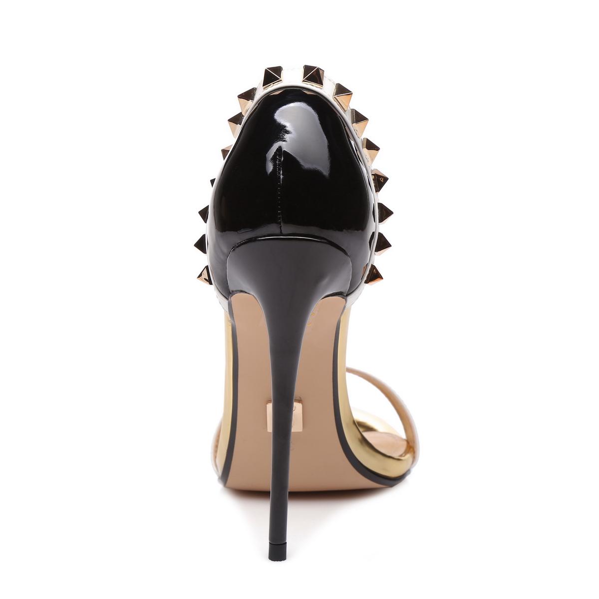 GIARO - Damen High Heel Sandalatten - Schwarz Schuhe in Übergrößen – Bild 3