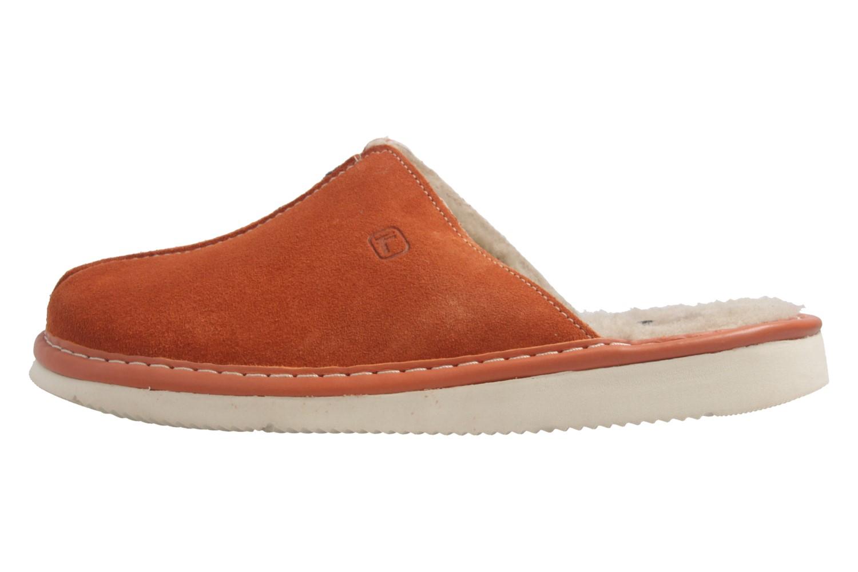 Fortuna - Nelly Flex - Damen Hausschuhe Lammfell - Orange Schuhe in Übergrößen – Bild 2