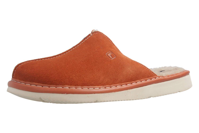 Fortuna - Nelly Flex - Damen Hausschuhe Lammfell - Orange Schuhe in Übergrößen – Bild 1