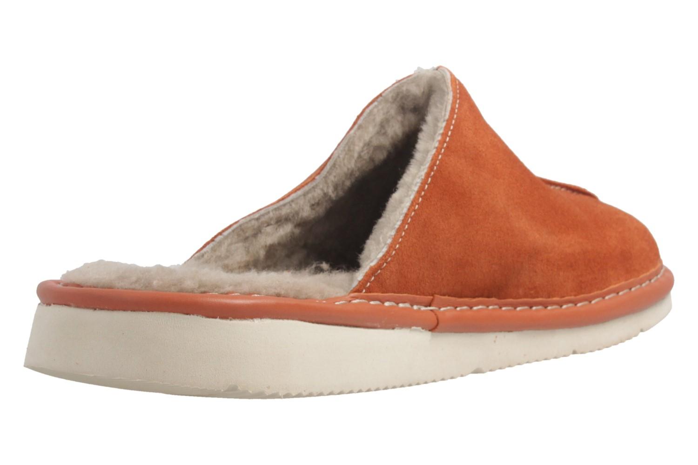 Fortuna - Nelly Flex - Damen Hausschuhe Lammfell - Orange Schuhe in Übergrößen – Bild 4