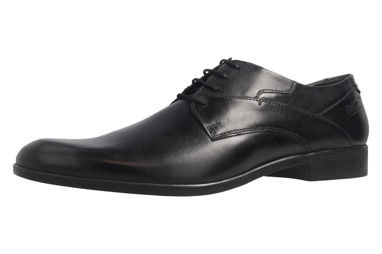 Fretz Men Oskar Business-Schuhe in Übergrößen Schwarz 7105.1274-22 große Herrenschuhe – Bild 1