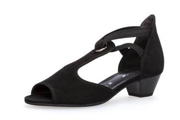 Gabor Comfort Basic Sandalette in Übergrößen Schwarz 86.561.47 große Damenschuhe – Bild 1