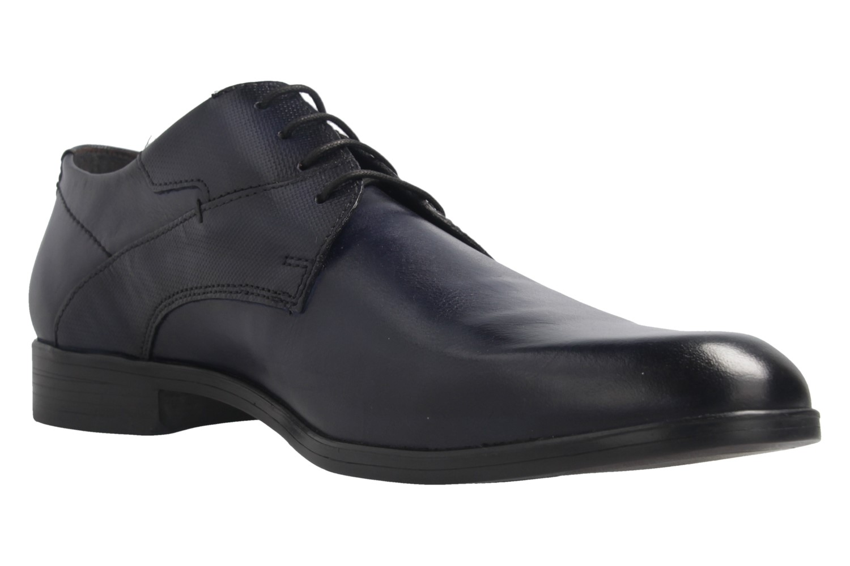 Fretz Men Oskar Business-Schuhe in Übergrößen Blau 7105.1274-60 große Herrenschuhe – Bild 6