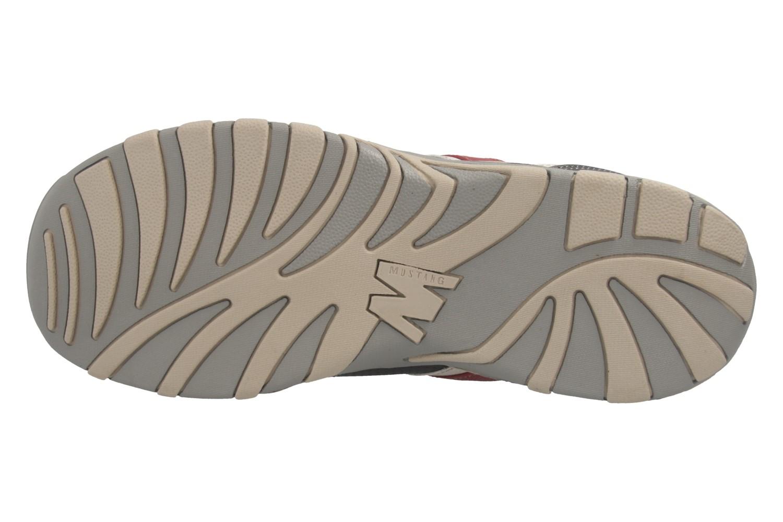 Mustang Shoes Halbschuhe in Übergrößen schwarz/rot 4027-310-95 große Herrenschuhe – Bild 7