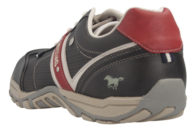 Mustang Shoes Halbschuhe in Übergrößen schwarz/rot 4027-310-95 große Herrenschuhe – Bild 3