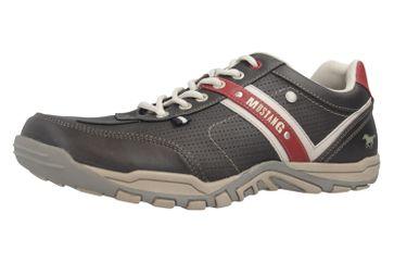 Mustang Shoes Halbschuhe in Übergrößen schwarz/rot 4027-310-95 große Herrenschuhe – Bild 1