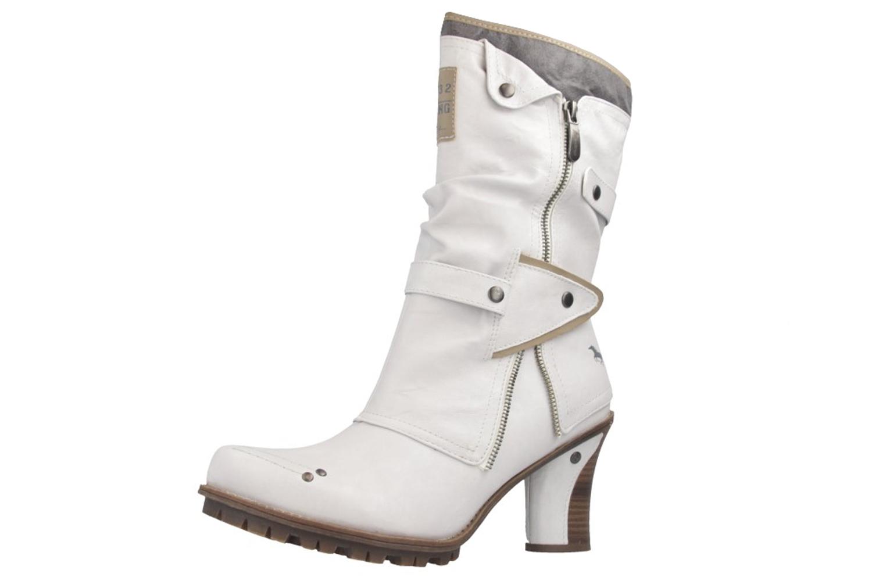 Mustang Shoes Stiefeletten in Übergrößen Weiß 1141-606-100 große Damenschuhe – Bild 1