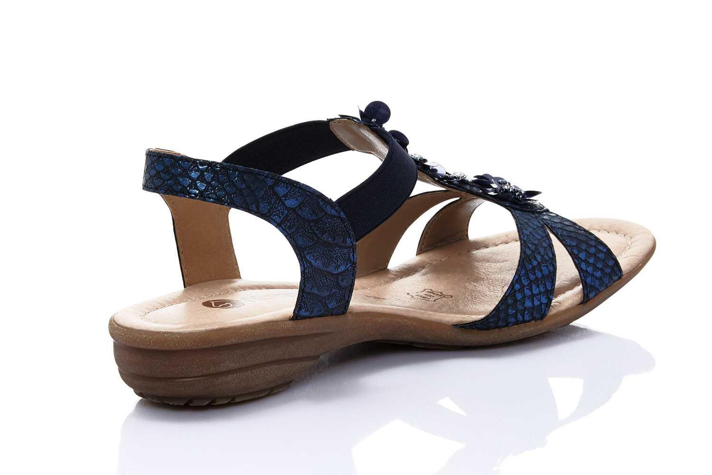 Remonte Sandalen in Übergrößen Blau R3633-14 große Damenschuhe – Bild 2