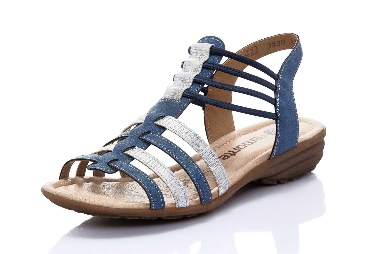 Remonte Sandalen in Übergrößen Blau R3630-12 große Damenschuhe – Bild 1
