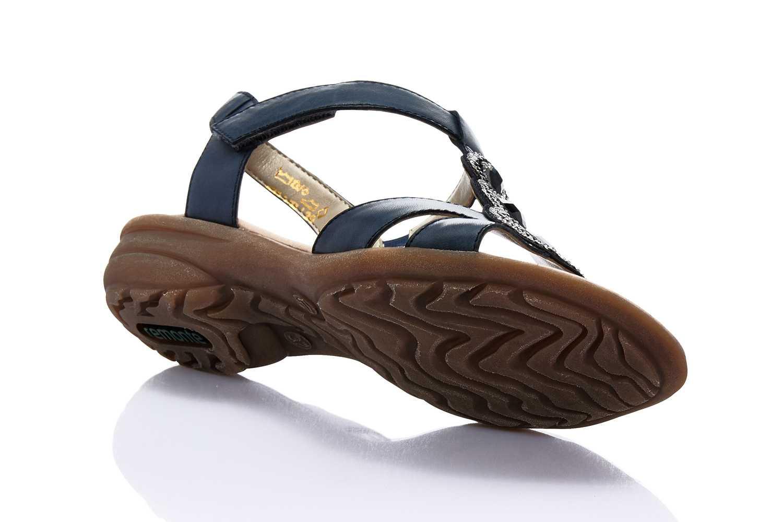 Remonte Sandalen in Übergrößen Blau R3641-15 große Damenschuhe – Bild 3