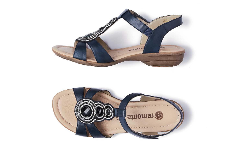 Remonte Sandalen in Übergrößen Blau R3641-15 große Damenschuhe – Bild 5