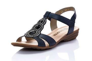 Remonte Sandalen in Übergrößen Blau R3641-15 große Damenschuhe