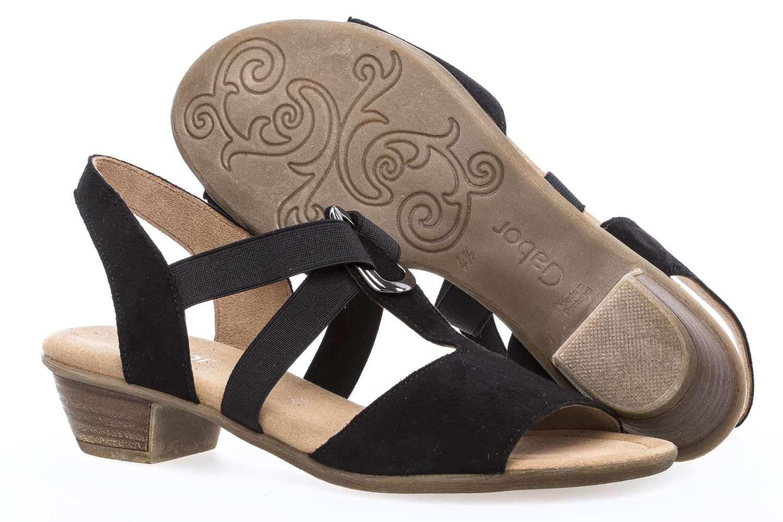 Gabor Comfort Sport Sandalette in Übergrößen Schwarz 82.471.47 große Damenschuhe – Bild 6