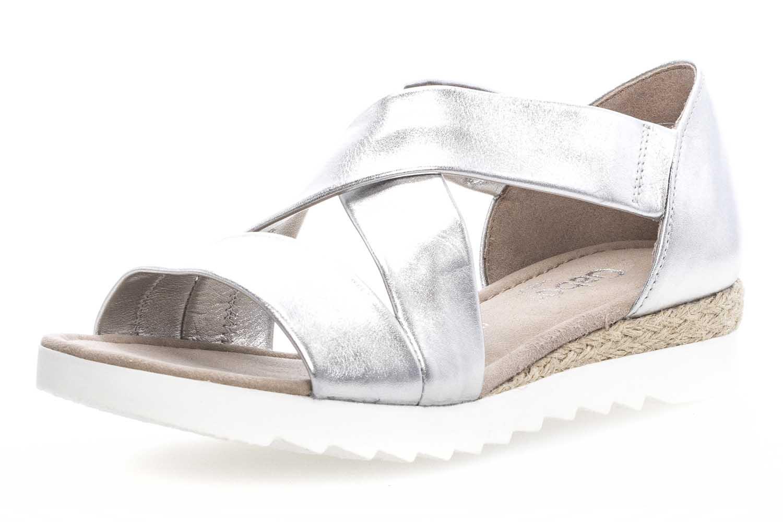Gabor Comfort Sport Sandalette in Übergrößen Silber 82.711.10 große Damenschuhe – Bild 1