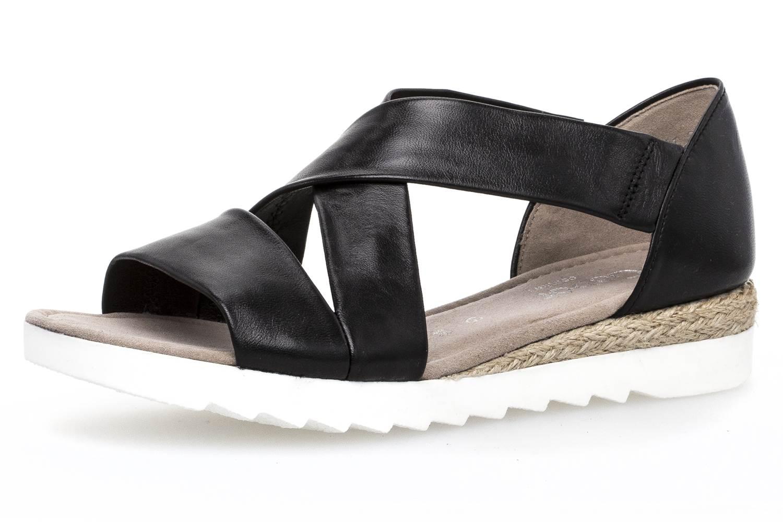 Gabor Comfort Sport Sandalette in Übergrößen Schwarz 82.711.27 Große Damenschuhe, Größe:42.5