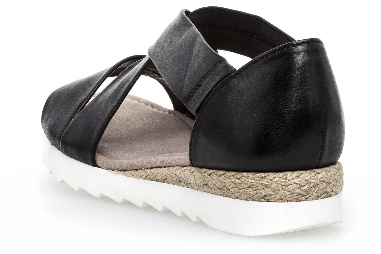 Gabor Comfort Sport Sandalette in Übergrößen Schwarz 82.711.27 große Damenschuhe – Bild 2