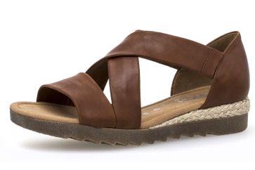 Gabor Comfort Sport Sandalette in Übergrößen Braun 82.711.55 große Damenschuhe – Bild 1