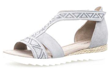 Gabor Comfort Sport Sandalette in Übergrößen Grau 82.713.40 große Damenschuhe