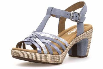 Gabor Comfort Sport Sandalette in Übergrößen Blau 82.736.16 große Damenschuhe – Bild 1