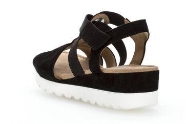 Gabor Comfort Sport Sandalette in Übergrößen Schwarz 82.754.47 große Damenschuhe – Bild 2