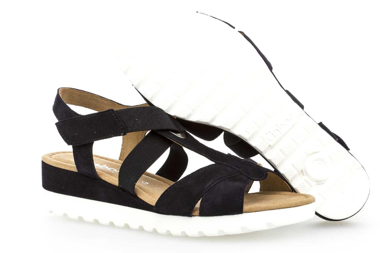 Gabor Comfort Sport Sandalette in Übergrößen Blau 82.754.86 große Damenschuhe – Bild 6